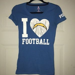 VS PINK chargers tee